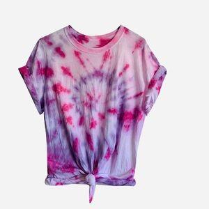 Purple Pink Swirl Tie Dye Tshirt
